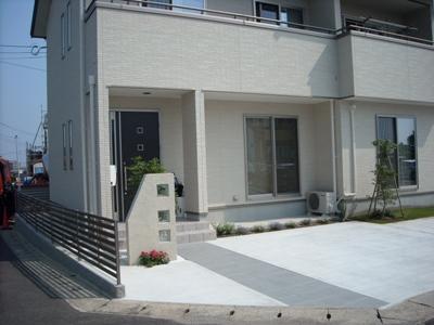 松江市浜乃木Y様邸外構エクステリア工事。