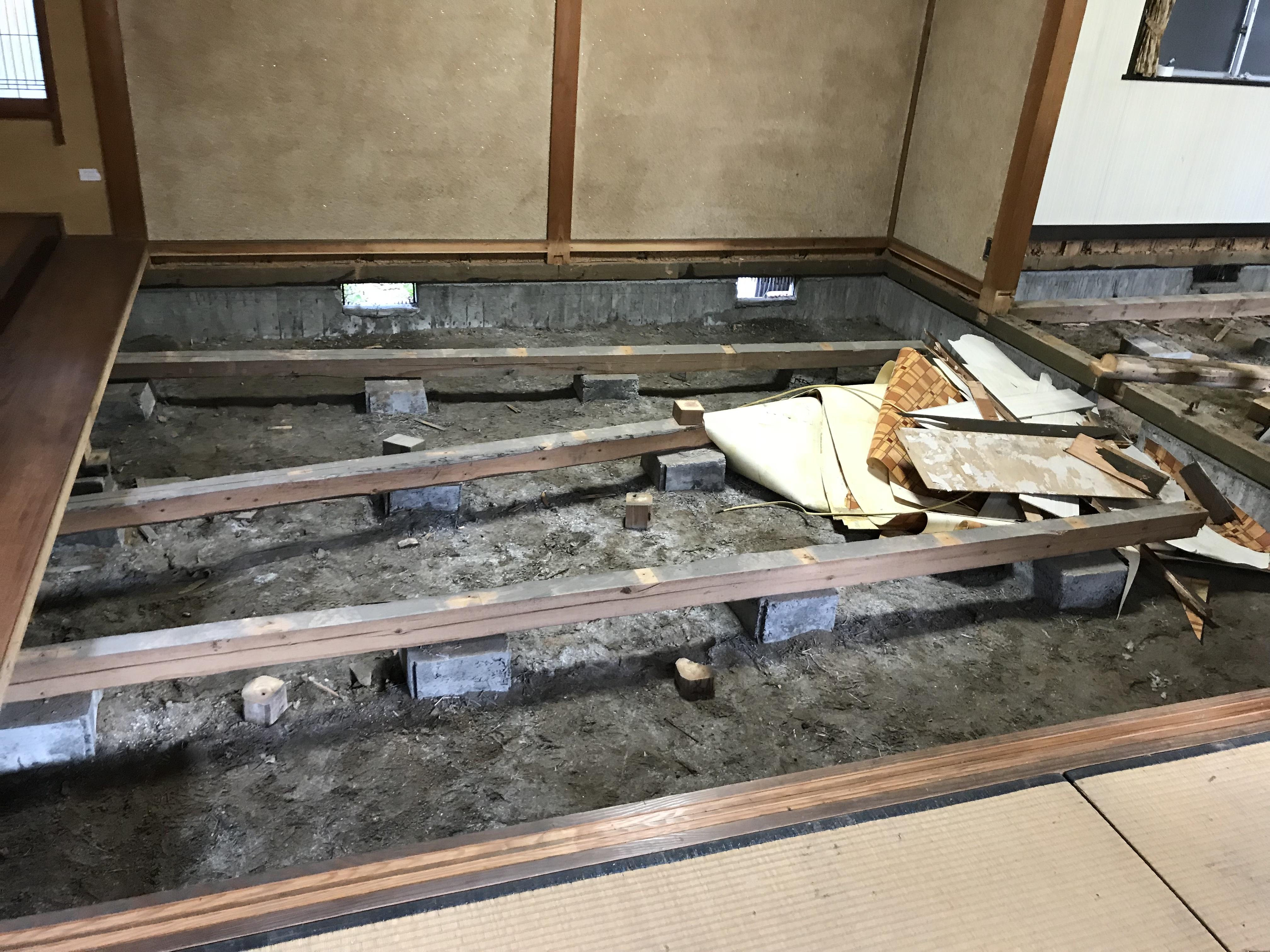 松江 リフォーム シロアリ被害復旧