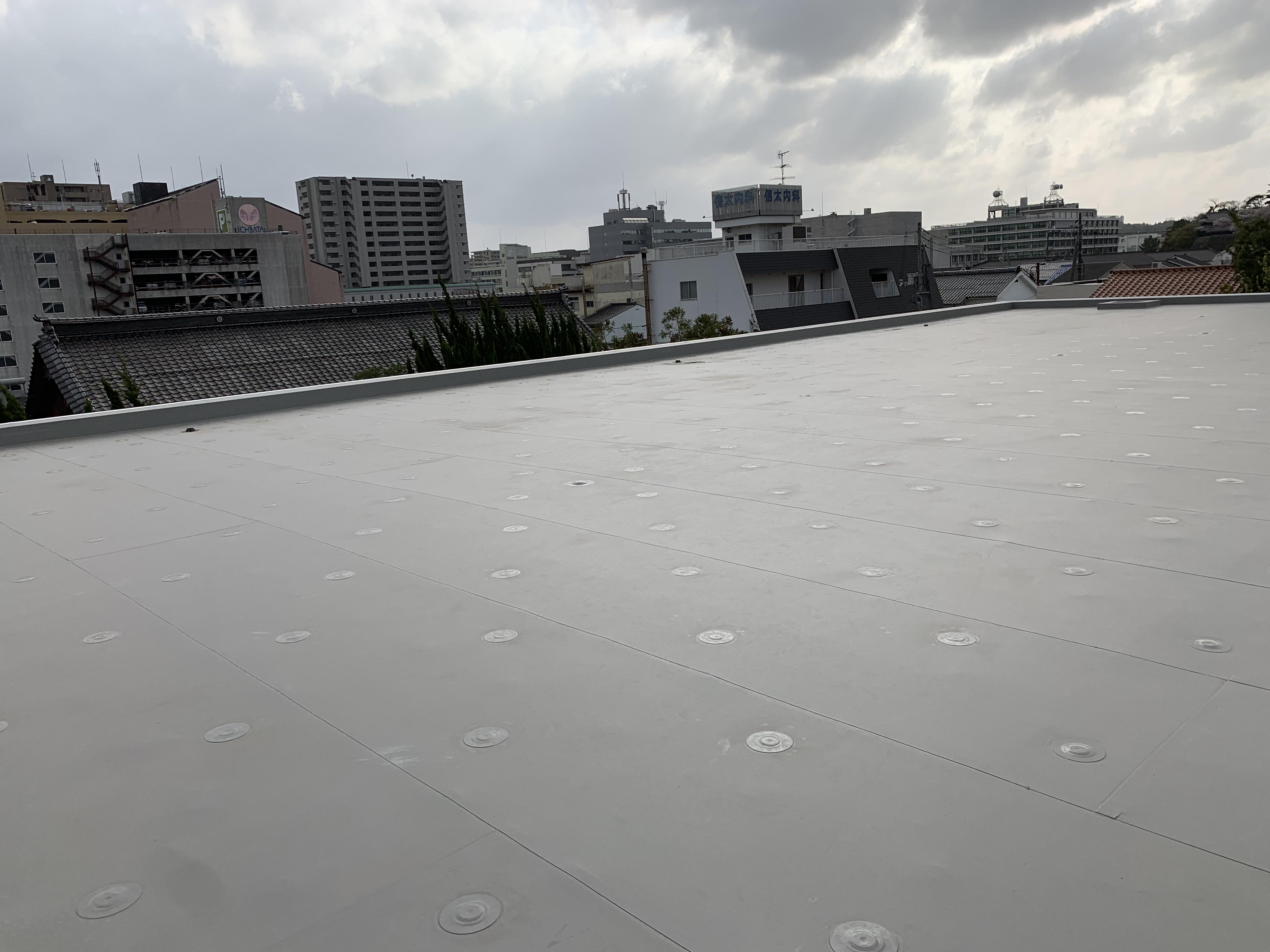 松江 外壁塗装 防水工事。殿町付近