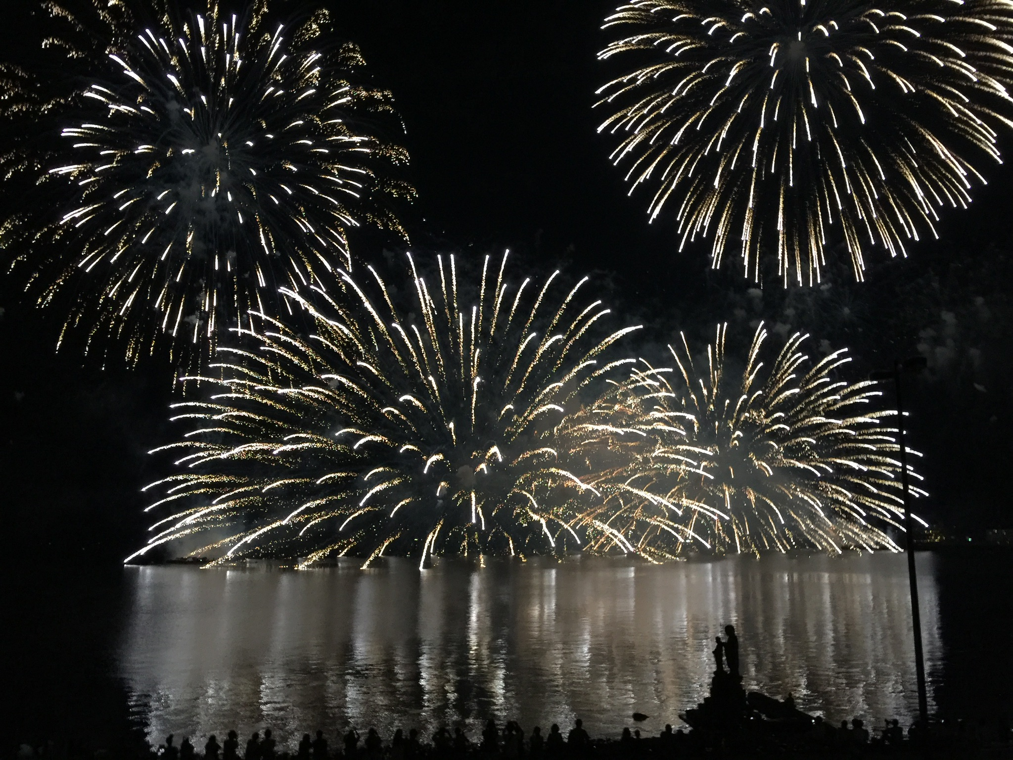 2019松江水郷祭湖上花火大会。クロスマン駐車場貸出。