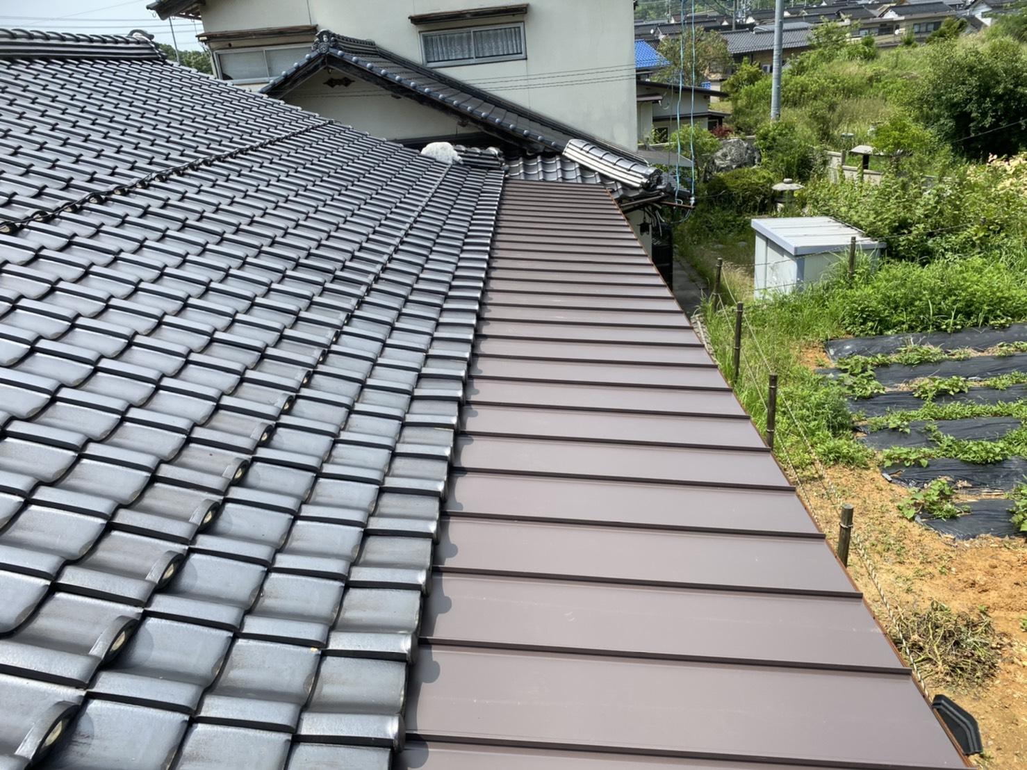 松江市比津町屋根葺き替えリフォーム工事