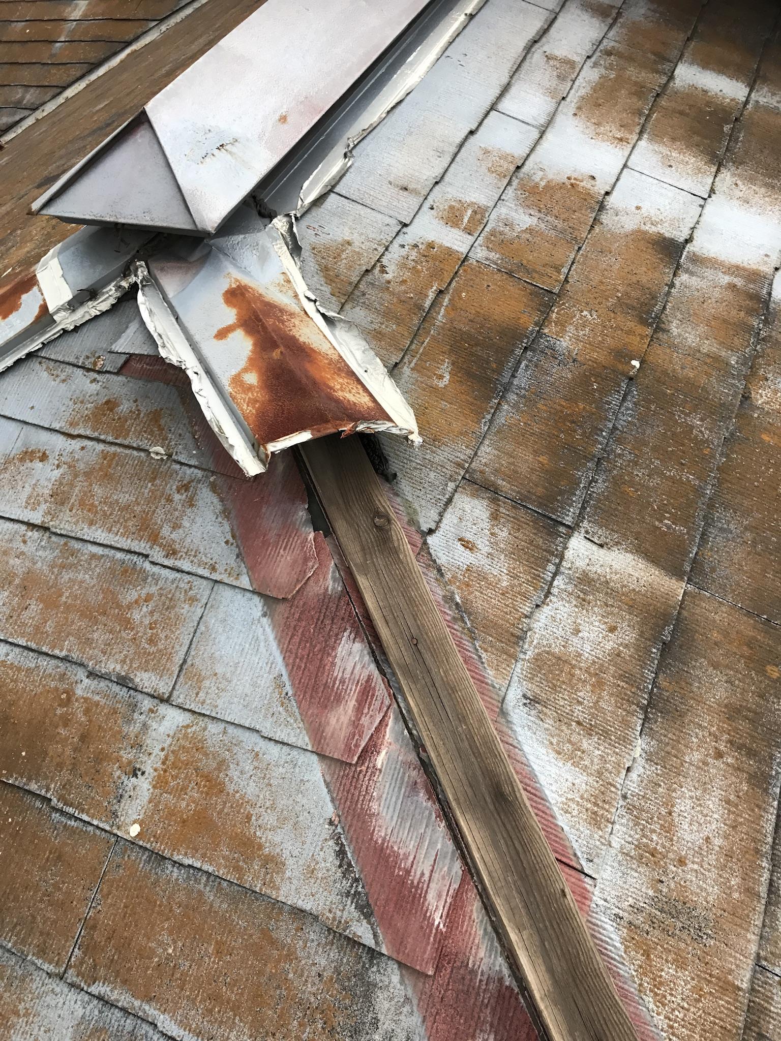 松江駅付近屋根雨漏り調査、修理